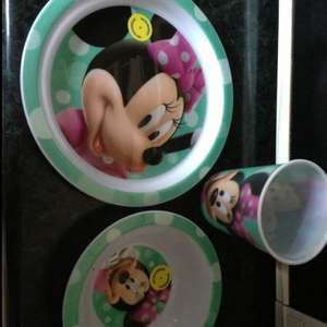 Minnie Mouse, Mickey Mouse & Donald Duck bowls, plates and tumblers 40p Each in Tesco