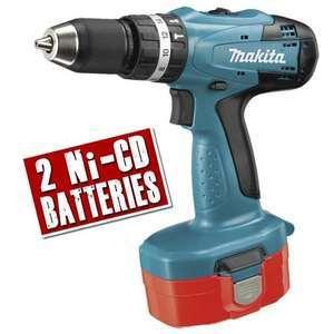 Makita 18V cordless combi drill & 2 x 2Ah NiCad batteries, 3yr g'tee £95.99 @ ITS (for free shipping spend £100, else £4.95)