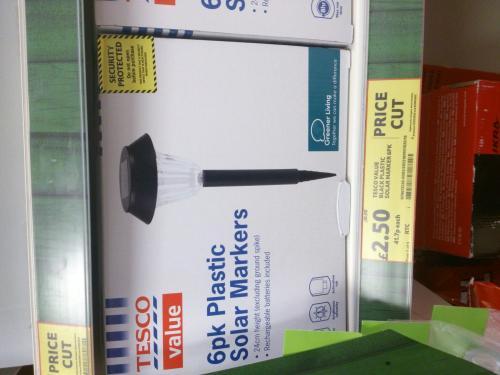 6pk Black Solar Lights / Markers for £2.50! In-store Tesco Dereham