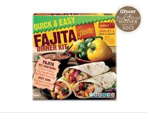 Aldi Fajita dinner kit £1.49