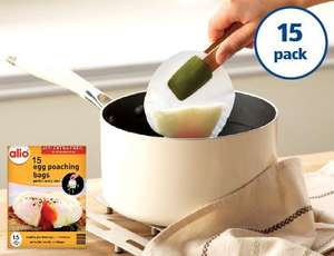 Alio Egg Poaching Bags, 15 for 99p from Aldi...