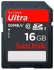 SanDisk 16GB Ultra Class 10 SDHC Card Memory Card (30MB/s) £8.75 @ Gizmoheaven
