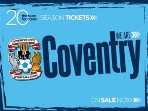 Coventry City Season Tickets £207.00 for Adults