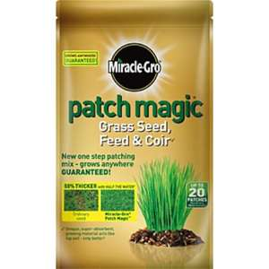 Miracle-Gro Patch Magic Grass Seed, Feed & Coir 20 Patches 1.5 kg £7 @ Asda Direct (£3.97 after cashback) Other bargains too!