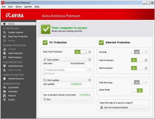 Avira Antivirus Premium 2013 1 (Year License) Direct from Avira £6.59