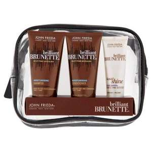John Frieda Travel Bag - Brilliant Brunette - £2.67 Delivered at Amazon