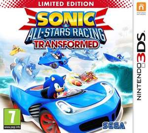 Sonic All Stars Racing Transformed Limited Edition for 3DS only £16.84 Sold by Turbotrance and Fulfilled by Amazon.
