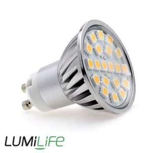 Lumilife 4 Watt GU10 LED Bulb - Wide Beam Angle £6.49 Ea or £4.43 with code(Buy 6 get one Free) @ LED Hut