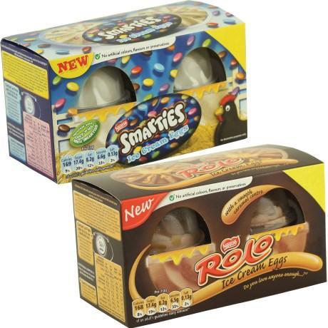 2PK NESTLE SMARTIES or ROLO ICE CREAM EGGS 75p @ Heron Foods