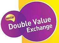 Nectar Double Value Exchange - 1,000 points = £20 (was £10) for Days Out & 1,000 points = £10 (was £5) for eating out and Vue Cinema