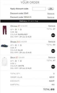 Whole outfit (Chinos, Shirt, Shoes) £13 delivered from H&M w/codes