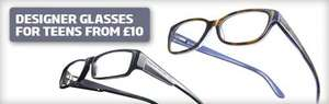 Designer glasses for under 19's from £10 @ Specsavers
