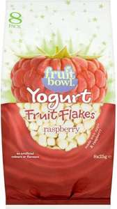 Fruit Bowl yogurt fruit flakes - raspberry - 8x25g - 99p @ Aldi