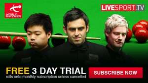 Free three-day Live Stream Snooker @ worldsnooker