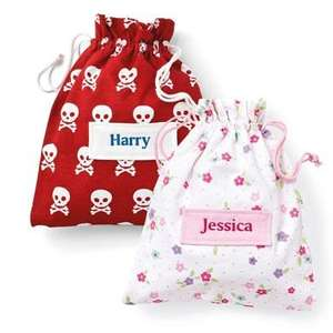 Childrens Personalised Wash Bag half price. £9 @ Great Little Trading Company