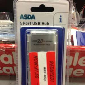 4 port USB hub £1.50 @ Asda instore