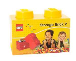 LEGO 2.7 Litre Medium Storage Brick - Yellow now £4.50 del to store @ Asda (other colours too)