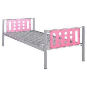 Domino Single Bed Frame, Silver With Pink Headboard  £29.00 @ Tesco Direct