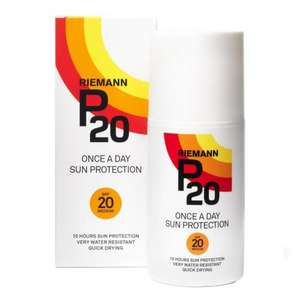 Riemann p20 spf20 and spf50 200mls £10 instore at matalan