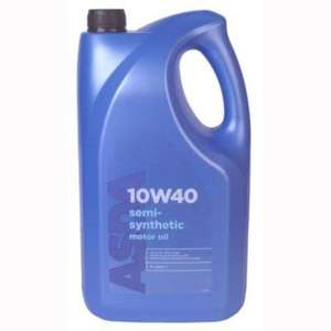 10W40 Semi Synthetic Engine Oil 5L for £10.00 at Asda (a litre more than Halfords' offer ) or £9.70 if Quidco tracks
