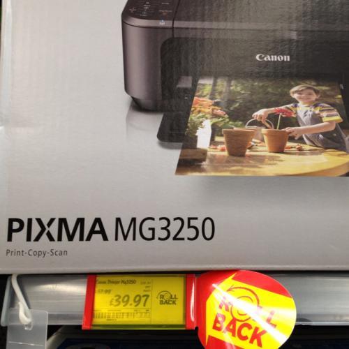 Canon PIXMA MG3250 All-In-One Printer  £39.97 @ Asda