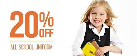 20% off all school uniform @ BHS
