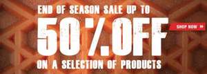 VANS Store end of season sale - most items half price - and free delivery on all orders!