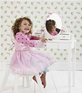 White wooden butterfly vanity table £50 delivered ELC HALF PRICE +£2.50 Quidco