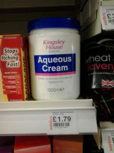 Aqueous Cream 1000ml £1.79 at Savers
