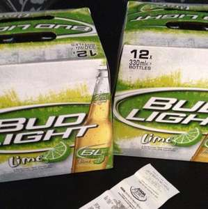 Bud light lime 12x330ml  £9 @ Asda