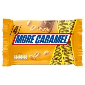 Snicker more Caramel 4 pack 50p Iceland