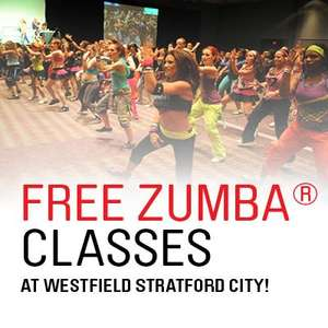 Free Zumba classes at Westfield Stratford City London