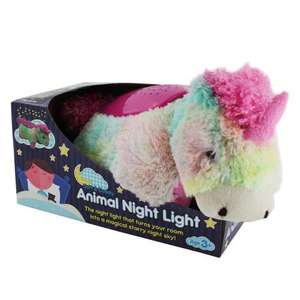 Cuddly Pillow Animal Night Light Unicorn, Ladybird & Butterfly £4.99 delivered free with code @ The Works