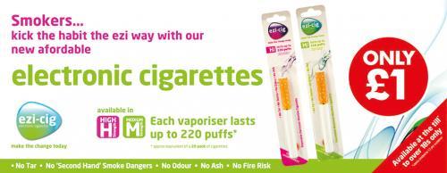 Ezi-Cig Electronic cigarettes £1 in Poundworld