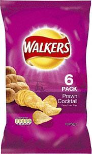 Walkers Prawn Coctail 6pk 69p @ B&M