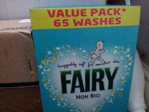 Fairy non bio washing powder 65 washes £9.99 at Home Bargains