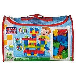 Mega Bloks Deluxe Building Bag - First Builders - 160 pcs! Half Price £17.49 @ Amazon