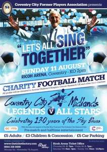 Football for £5 - Coventry City Legends vs Midlands Legends