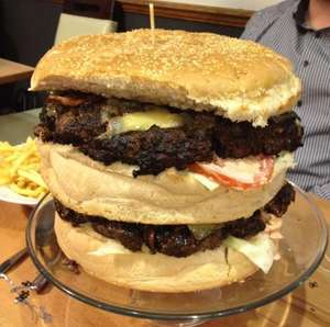 Britain's biggest burger! 'The Beast' - FREE if you can eat in 60 mins @ Blacks Burgers (Purley - London)