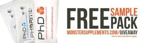 Free Whey protein shaker and sample @ monstersupplements
