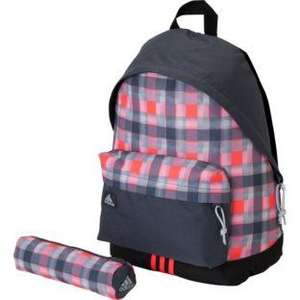 Adidas Check Backpack / School Bag with Pencil Case - Red & Navy now £8.99 @ Argos
