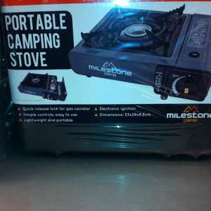 Portable gas camping stove  £5 @ Morrisons.