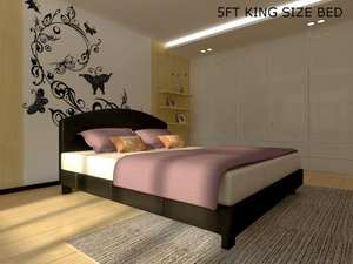 Apollo Single/Double/King Size Bed Frame Black/Brown £64.99/£69.99/£89.99 @ eBay/MemoryFoamBeds01