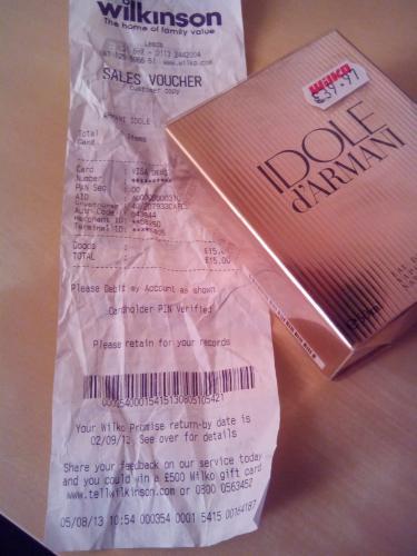 Idole d'Armani Eau de Parfum 50ml only £15 in-store @ Wilkinson (RRP £39.97)