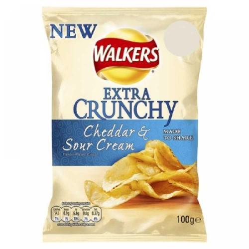 Walkers Extra Crunchy Cheddar & Sour cream 150g 2 for 50p @ Tesco