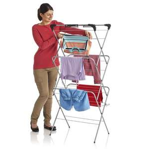 Wilko Deluxe Clothes Airer 3 Tier 14m Was £16 Now £10