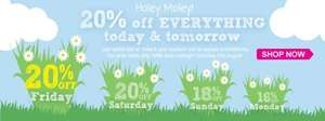 20% off everything this weekend at Great Little Trading Company