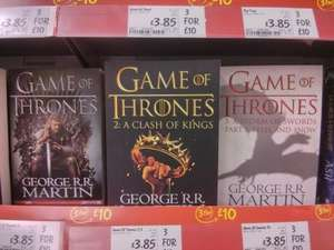 Game of Thrones 1-3 Books £10 instore at Asda