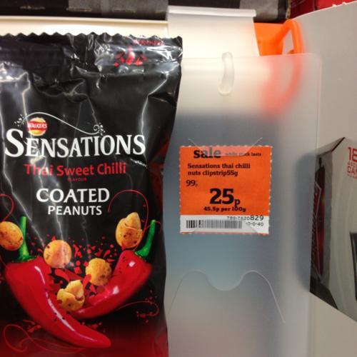 Walkers Sensations Thai Sweet chilli peanuts 25p @ sainsbury's
