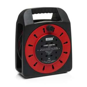 Wilkinson : Extension Cable 13 Amp 4 Way Reel 25m £16